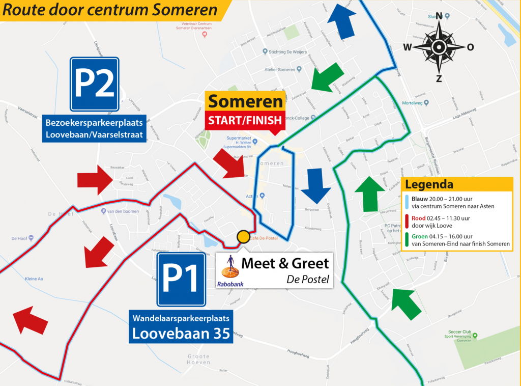 Route door centrum Someren